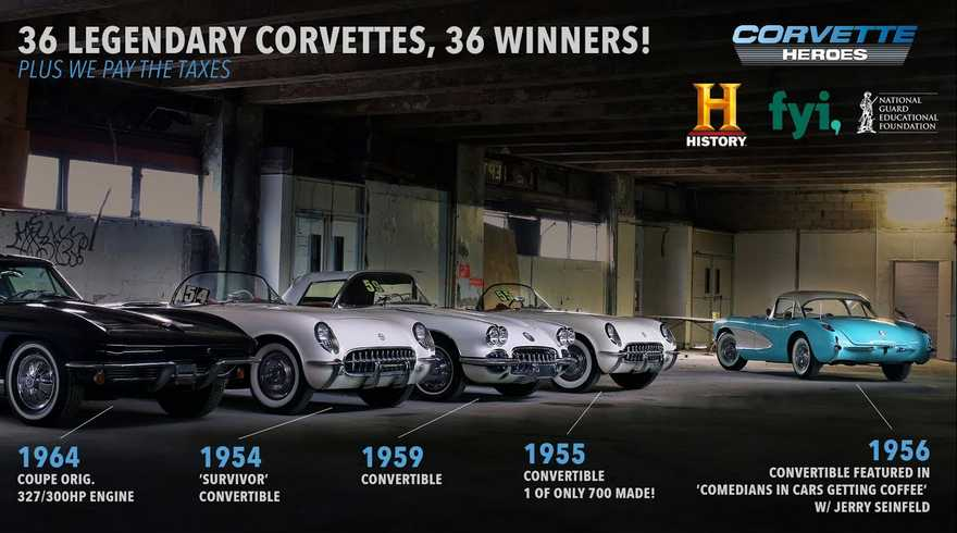 The Lost Corvettes Giveaway Sweepstakes 2021