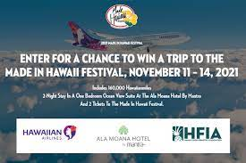 Made in Hawaii Festival Sweepstakes contest